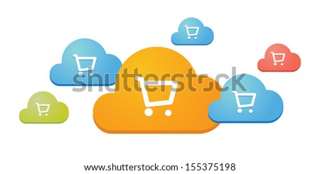 E-commerce  illustration tecnology related - stock vector