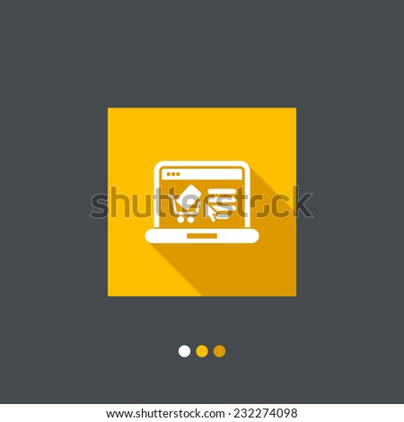E-commerce website icon - stock vector