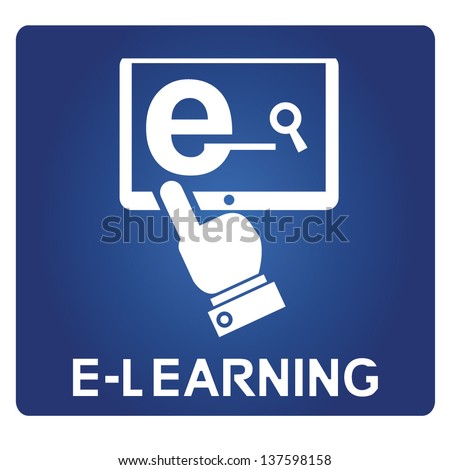 e learning - stock vector