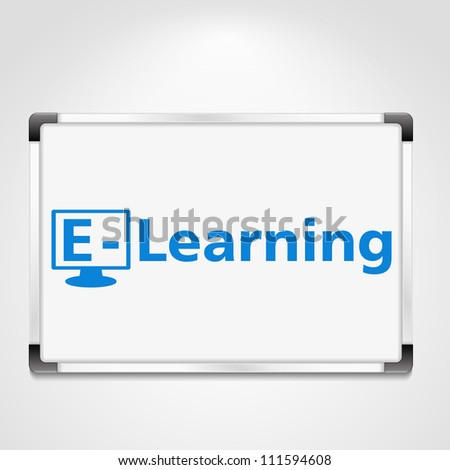 E-Learning concept, vector eps10 illustration - stock vector