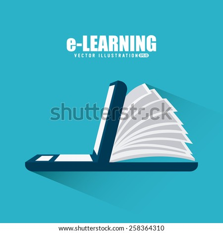 e-learning design, vector illustration eps10 graphic  - stock vector