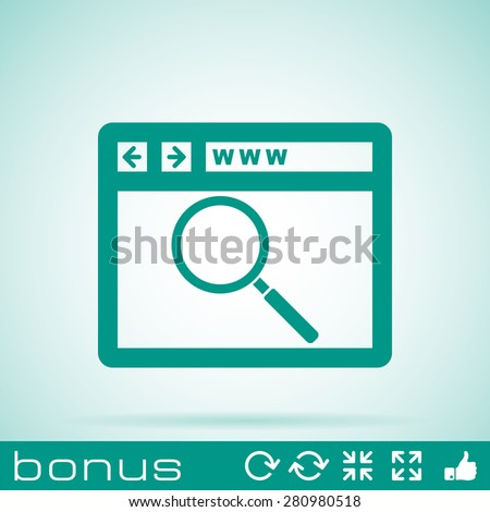e-learning icon - stock vector