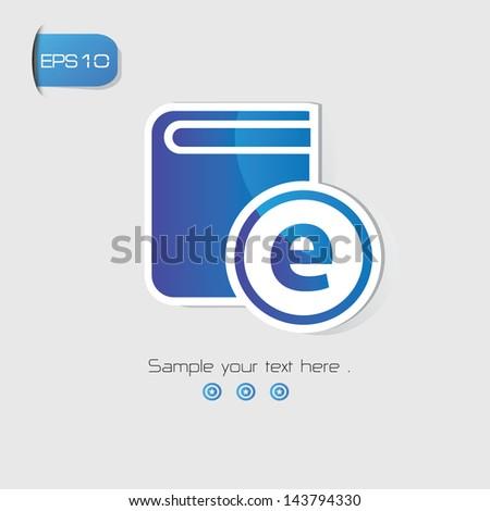 E-Learning symbol,vector - stock vector