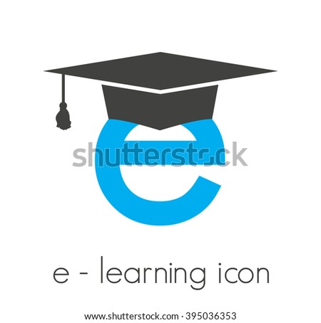 e-learning vector icon