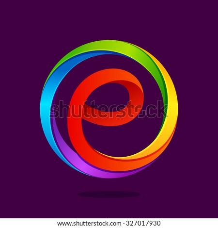 Monogram Letter E Stoc...E Logo With Circle