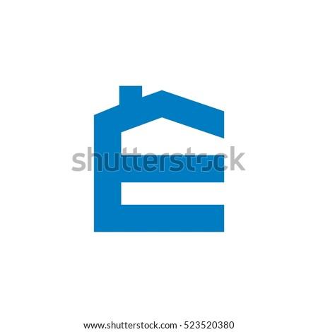 E letter house shape logo template stock photo photo vector e letter house shape logo template spiritdancerdesigns Images