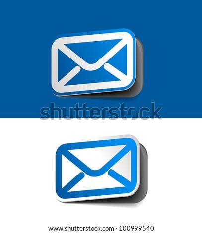 E-Mail Button label design element. - stock vector