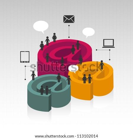 e-mail concept - stock vector