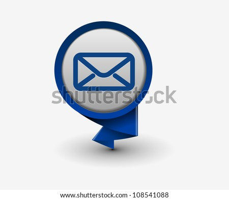 e-mail hanging sticker icon, vector - stock vector