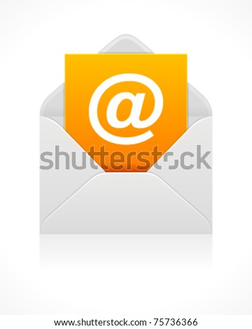 E mail icon. Vector illustration Eps 10.