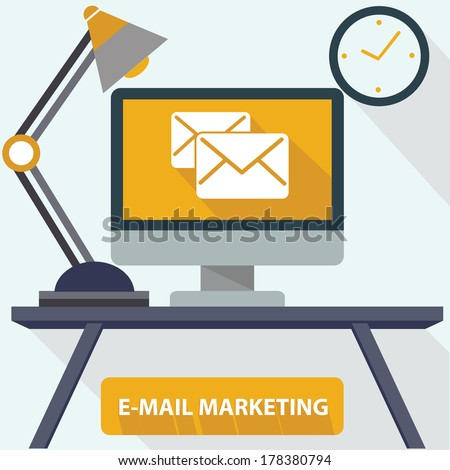 E-Mail Marketing concept,vector - stock vector