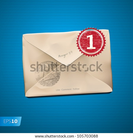 E mail old new folder message. Vector Eps10 image - stock vector