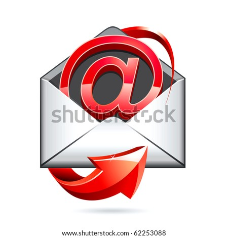 e mail vector icon - stock vector