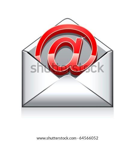 e mail vector icon - stock vector