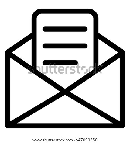 e mail vector icon stock vector royalty free 647099350 shutterstock