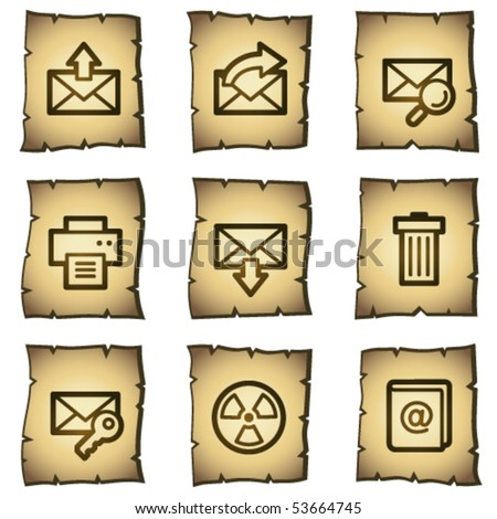 E-mail web icons set 2, papyrus series - stock vector