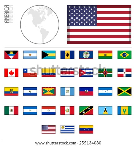 E-shop miniature flags. America
