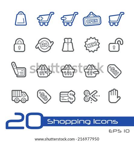 e-Shopping Icons // Line Series - stock vector
