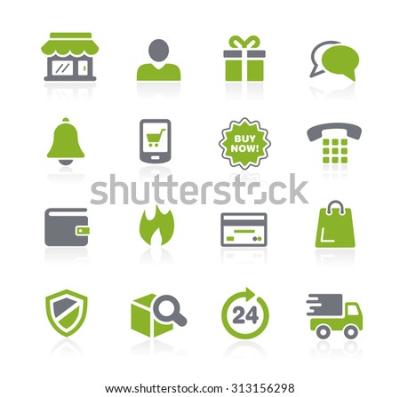 e-Shopping Icons // Natura Series - stock vector