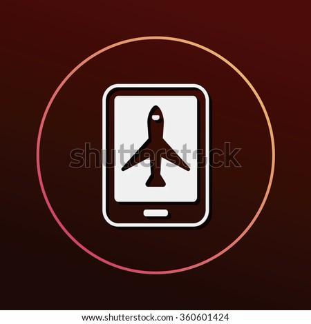e-ticket icon - stock vector