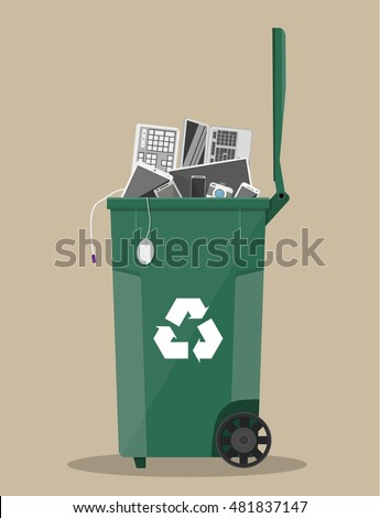 E waste stock images royalty free images vectors for Simple art from waste