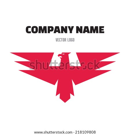 Eagle Abstract Sign in Classic Graphic Style for Business Company - vector logo design template. Design element.  - stock vector