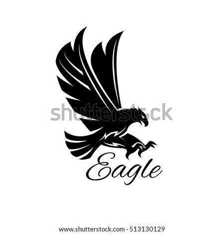 Eagle Bird Icon Vector Heraldic Emblem Stock Vector Royalty Free