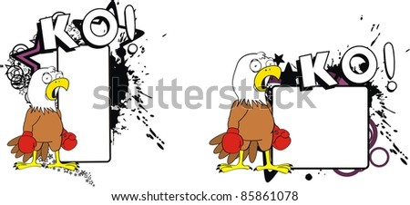 eagle boxer cartoon copyspace in vector format