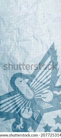 Eagle card - stock vector