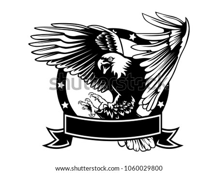 Eagle Emblem Isolated On White Illustration Stock Vector 1060029800