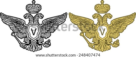 Eagle engrawing picture. Vector illustration - stock vector