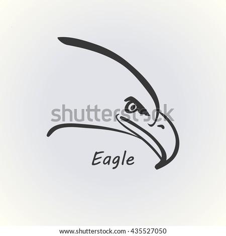Eagle head illustration vector - stock vector