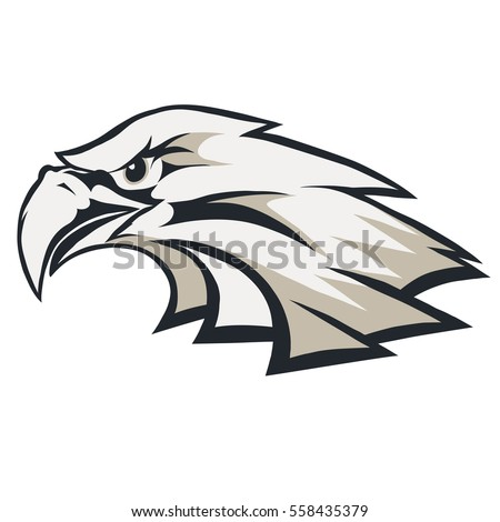 Eagle Head Logo Template Mascot Graphic Stock Photo (Photo, Vector ...
