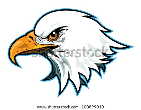 Eagle Head Profile - stock vector