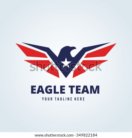 Eagle Logo - stock vector
