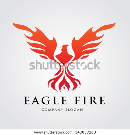 Eagle Logo,Bird Logo,Phoenix logo,Vector Logo Template - stock vector