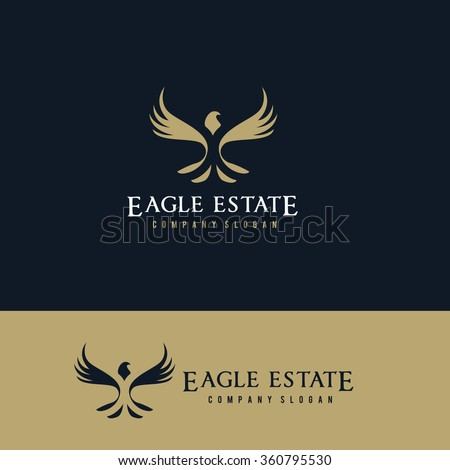 Eagle logo,Eagle Real estate logo, real estate logo,Vector Logo template - stock vector