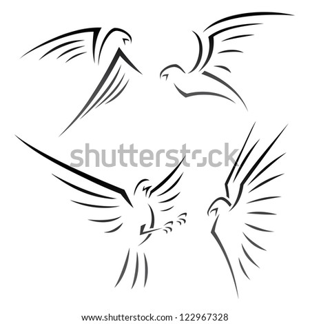 Eagle signs - vector illustration - stock vector