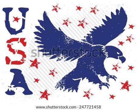 eagle stars - stock vector