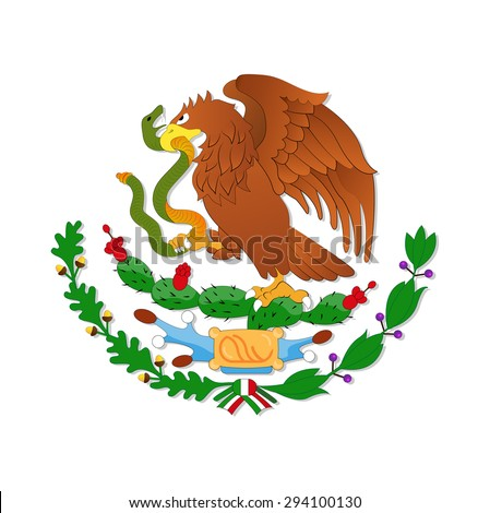 Eagle, symbol of the Mexican flag - stock vector