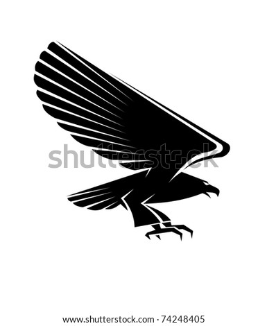 Eagle tattoo. Jpeg version also available in gallery - stock vector