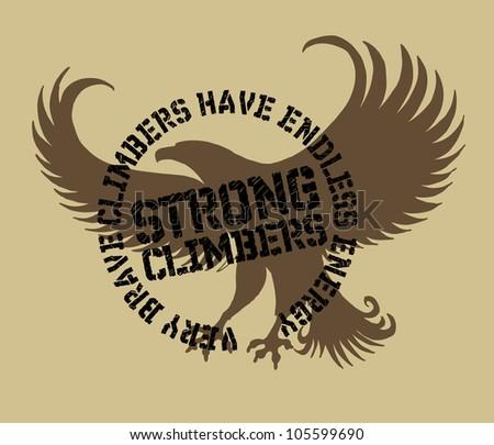 eagle team - stock vector