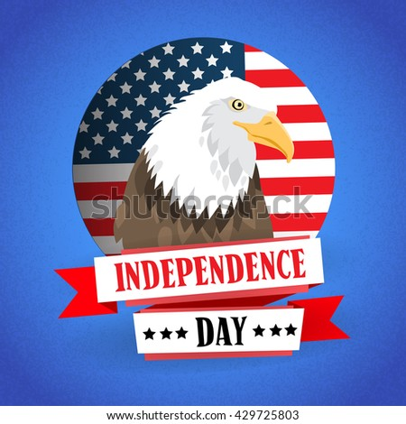 Eagle United States Of America Flag Independence Day Vector Illustration
