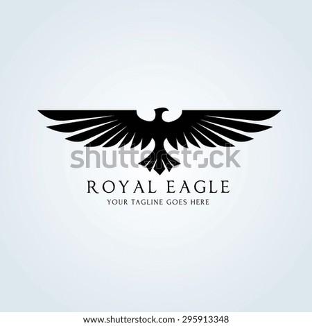 Eagle Vector Logo Template - stock vector