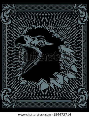 eagle vintage banner. Vector illustration. - stock vector