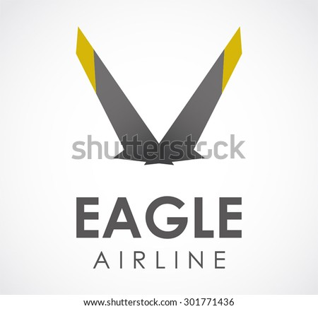 Eagle Wings Fly Abstract Vector Logo Stock Vector 301771436
