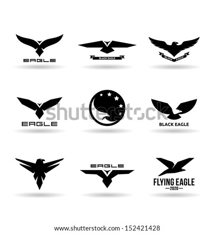 Eagles (9). - stock vector