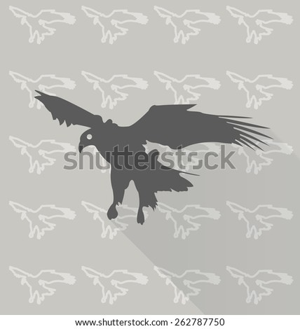 Eagles vector  in background pattern - stock vector