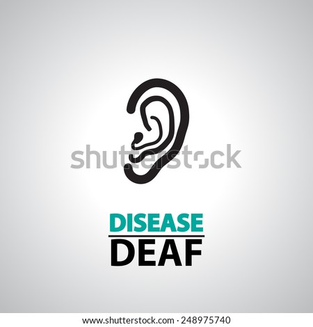 ear deaf icons and symbol   - stock vector