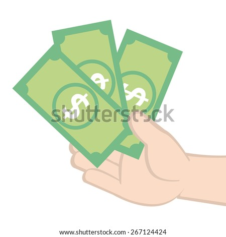 Earn money - stock vector